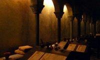 Scriptorium con climenea en inverno con canto gregoriano de fondo