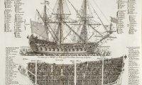 Tall ship wandering the ocean