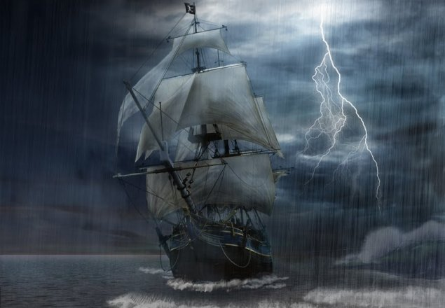 sailing on deep water storm audio atmosphere
