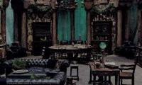 Slytherin Common Room During a Thunderstorm