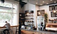 A small corner coffee shop