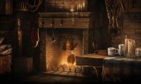 A rainy night at Hagrid's hut