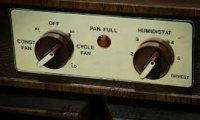 Dehumidifier in the basement