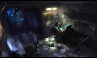 cyberpunk bedroom