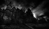 Weathering the storm in a haunted castle.