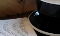 Cafe, Writing, Rain