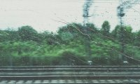 Steam Train in Thunder Storm