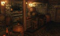 An empty tavern.