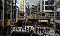 Sitting in a Cyberpunk Mall