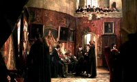 after exams, the Gryffindor 5th years relax in their common room