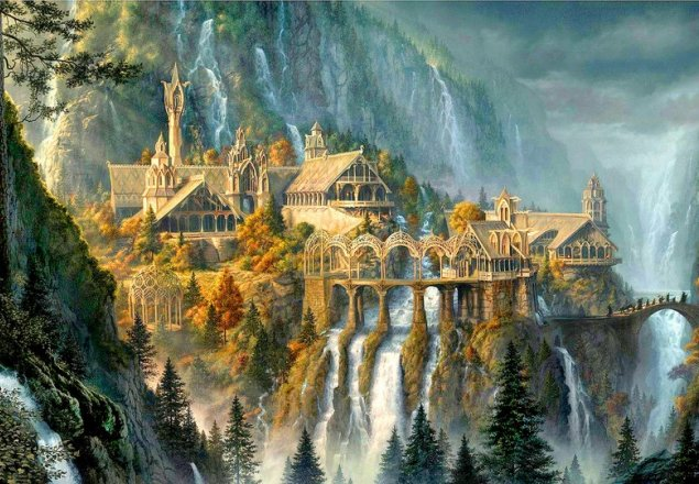 Rivendell Waterfall And Harp Audio Atmosphere
