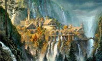 http://www.ambient-mixer.comRivendell waterfall and harp