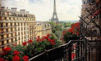 An afternoon tea on a balcony in Paris