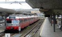 Train in Rainstorm