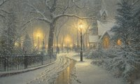 Thomas Kinkade Inspired Winter Evening