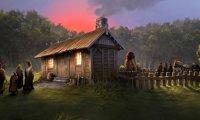 Tea at Hagrid's Hut, Hogwarts Grounds