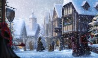 Christmastime in Hogsmeade