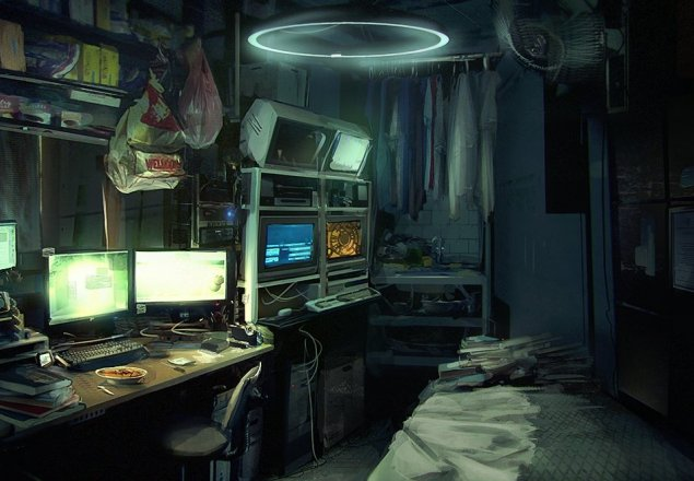 A Quiet Night In A Tiny Cyberpunk Apartment Audio Atmosphere