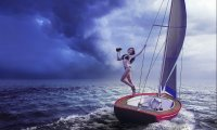Stranded at Sea in a Thunderstorm