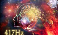417 Hz - undoing situations and facilitating change; by the fireplace, grove nature.