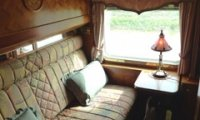 http://www.ambient-mixer.comPassenger compartment in an old timey steam train