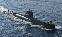 Submarine running underwater