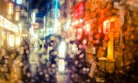Rainy Cyberpunk City