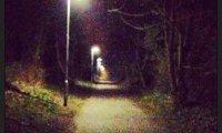 Running in a creepy park