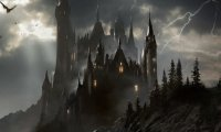 Rainstorm outside Castle Ravenloft