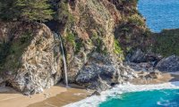 waterfall at the beach