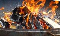 dry summer campfire