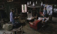 In a cabin with dean and sam