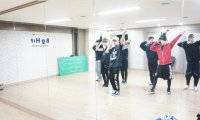 Studying in BTS' dance room