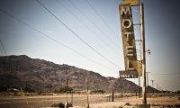 Sounds of a roadside restaurant in the desert