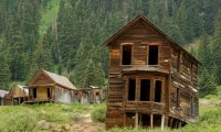 Abandoned rural town