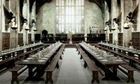 The Hogwarts Great Hall around mid-day after meal times