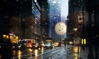Rainy NYC Coffee Shop