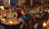 A Tavern with many guests