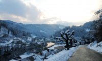 Snowy Medieval City Exterior