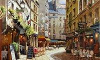 café, people, street