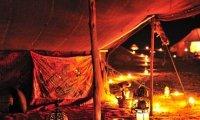 Night at desert camp