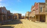 A small sleepy western town.