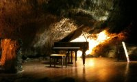 Piano in a Cave