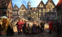 https://www.ambient-mixer.comMedieval town market
