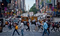Enjoy the soothing sounds of a busy city street