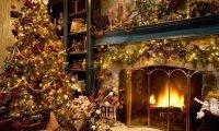 Victorian Parlor at Christmas