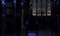 Alone in Hogwarts Library