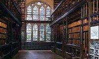 Hogwarts library on rainy day