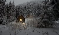 http://www.ambient-mixer.comWinter Cabin at Night During a Storm