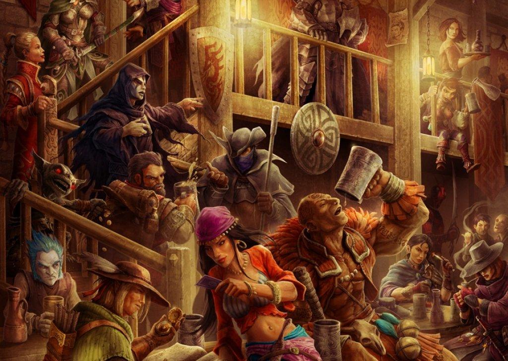 Crowded Fantasy Tavern audio atmosphere: crowds.ambient-mixer.com/crowded-fantasy-tavern